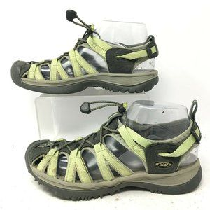 KEEN Womens 7.5 Whisper Outdoor Hiking Sandals Gre